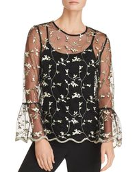 Sioni - Sheer Embroidered Top - Lyst