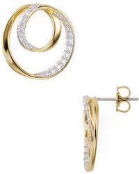 Nadri - Infinite Circle Earrings - Lyst