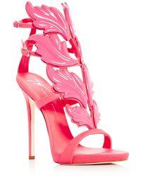 Giuseppe Zanotti - Women's Cruel Coline Leather Wing Embellished High-heel Sandals - Lyst
