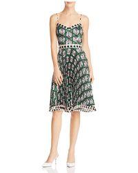 MILLY - Jill Pleated Dress - Lyst