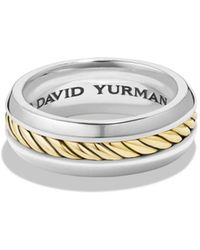 David Yurman - Cable Classic Ring With 18k Gold - Lyst