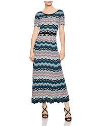 Sandro - Rone Geo-stripe Knit Dress - Lyst