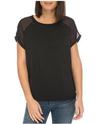 B Collection By Bobeau - Isla Sheer-sleeve Tee - Lyst