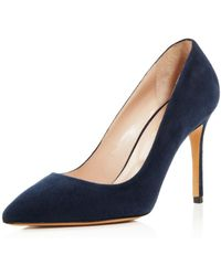 Charles David - Genesis Suede Pointed Toe High-heel Court Shoes - Lyst