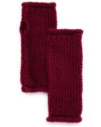 Rebecca Minkoff - Rolled-edge Fingerless Gloves - Lyst