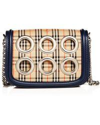 Lyst - Ferragamo Sansy Grommet Fringe Drawstring Shoulder Bag in Brown cc1c558c1da58