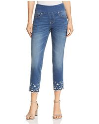 Jag Jeans - Lewis Straight Pull-on Ankle W/ Embroidery In Skydive - Lyst