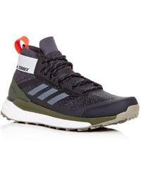 big sale cb4d3 8484d adidas - Mens Terrex Free Hiker Knit Low-top Sneakers - Lyst
