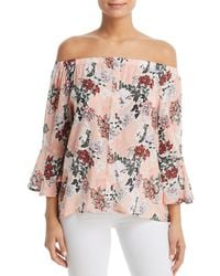 Tolani - Floral-print Off-the-shoulder Top - Lyst