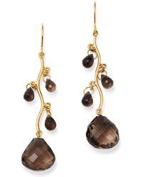 Bloomingdale's - Smoky Quartz Chandelier Earrings In 14k Yellow Gold - Lyst