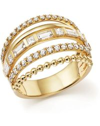 Bloomingdale's - Diamond Multi Row Ring In 14k Yellow Gold, 1.20 Ct. T.w. - Lyst