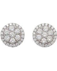Frederic Sage - 18k White Gold Firenze Round Diamond Cluster Stud Earrings - Lyst