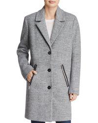 Calvin Klein - Bouclé Coat - Lyst