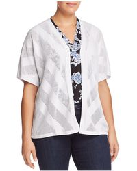 Vince Camuto Signature - Chevron Pointelle Cardigan - Lyst