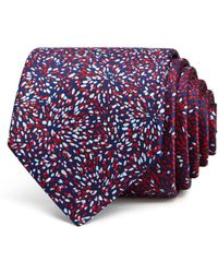 Lanvin - Abstract Floral Classic Tie - Lyst