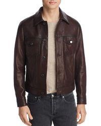 dd7a0207dd18 Michael Kors - Burnished Leather Jacket - Lyst