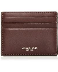 Michael Kors - Henry Leather Card Case - Lyst