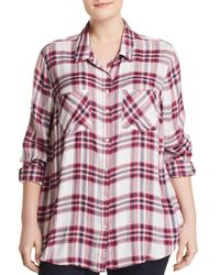 Lucky Brand - Classic Plaid Button Down Top - Lyst
