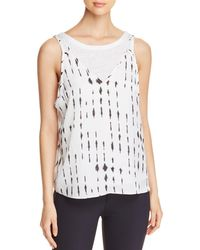 Kenneth Cole - Inkwell Double-layered Tank Top - Lyst