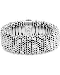 Lagos - Sterling Silver Caviar Wide Bracelet - Lyst