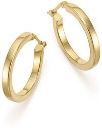 Bloomingdale's - 14k Yellow Gold Square Tube Hoop Earrings - Lyst
