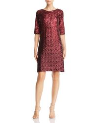 16b2daddcf5e Betsey Johnson Empire-waist Lace A-line Dress in Metallic - Lyst