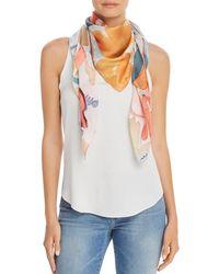 Echo - Watercolor - Floral Silk Scarf - Lyst