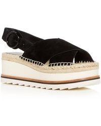 Marc Fisher - Women's Glenna Suede Slingback Espadrille Platform Sandals - Lyst