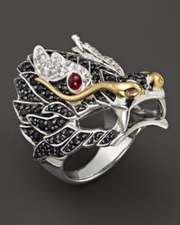 John Hardy - Sterling Silver & 18k Gold Naga Lava Dragon Ring - Lyst