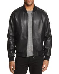 BOSS - Boss Mirton Leather & Suede Bomber Jacket - Lyst