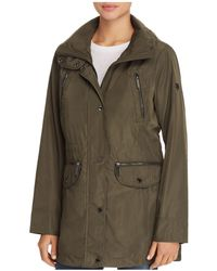 MICHAEL Michael Kors - Double Collar Hooded Raincoat - Lyst