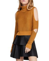 BCBGeneration - Cropped Cutout Turtleneck Sweater - Lyst