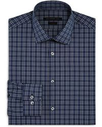 John Varvatos - Windowpane Check Slim Fit Stretch Dress Shirt - Lyst