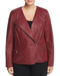 Lafayette 148 New York - Trista Leather Moto Jacket - Lyst