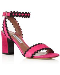 ccf1d4928da L.K.Bennett Gladiator Sandals - Angie Tudor Rose High Heel in Black ...