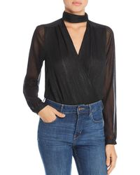 Guess - Camilla Metallic Crossover Bodysuit - Lyst