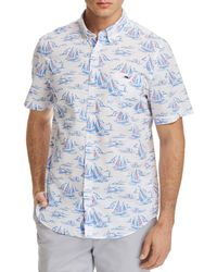 Vineyard Vines - Sailboat Slim Fit Button-down Shirt - Lyst