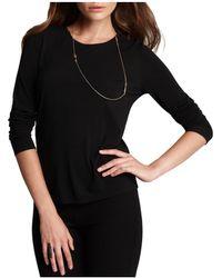 Eileen Fisher - Women's Long Sleeve Stretch Silk Jersey Crew Neck Shirt - Lyst