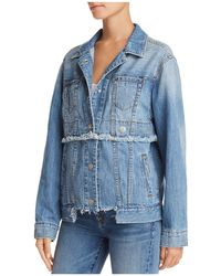 True Religion - Trucker Convertible Denim Jacket In Derby Blue - Lyst