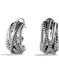 David Yurman - Crossover Earrings - Lyst