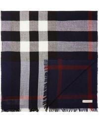 Burberry - Merino Wool Check Scarf - Lyst