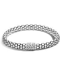 John Hardy - Sterling Silver Dot Small Chain Bracelet With Diamonds - Lyst
