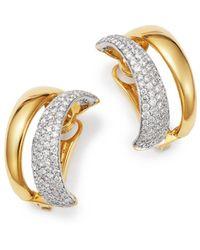 Roberto Coin - 18k White & Yellow Gold Scalare Convertible Diamond Earrings - Lyst