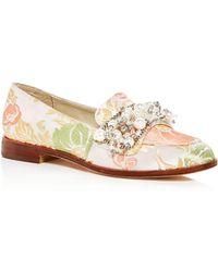 Bettye Muller - Women's Revel Embellished Brocade Loafers - Lyst