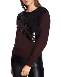 1.STATE - Mixed Media Sequin Jumper - Lyst