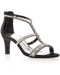 Caparros - Women's Loretta Embellished Satin High-heel Sandals - Lyst