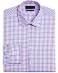 Bloomingdale's - Chevron Check Regular Fit Dress Shirt - Lyst