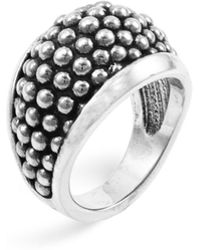 """Lagos - Sterling Silver """"caviar"""" Domed Ring - Lyst"""