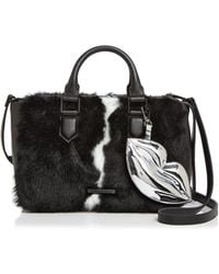 Kendall + Kylie - Kendall And Kylie Claire Leather & Faux Fur Satchel - Lyst