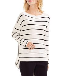 Vince Camuto - High/low Striped Jumper - Lyst